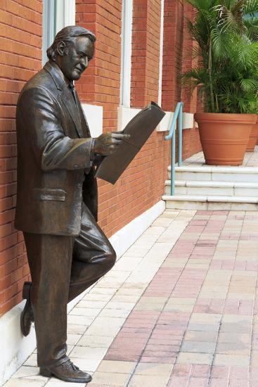R. Manteiga Statue in Centro Ybor, Tampa, Florida, United States of America, North America-Richard Cummins-Photographic Print