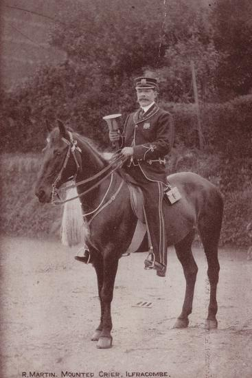 R Martin, Mounted Crier, Ilfracombe--Photographic Print