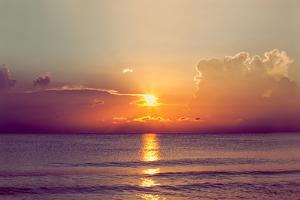 Sunset over the Gulf of Mexico by R. Nelson