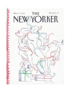 The New Yorker Cover - December 17, 1990 by R.O. Blechman