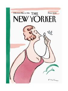 The New Yorker Cover - February 26, 1996 by R.O. Blechman