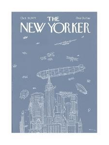 The New Yorker Cover - October 31, 1977 by R.O. Blechman