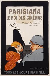 Parisiana Le Roi Des Cinemas Poster by R^ Pichon