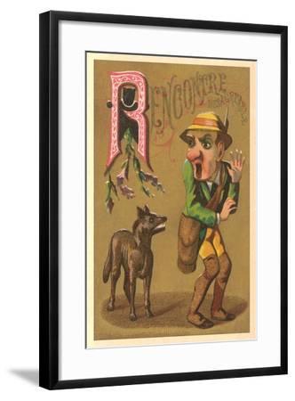 R, Recontre Desagradable--Framed Art Print