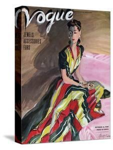 Vogue Cover - October 1939 by R.S. Grafstrom