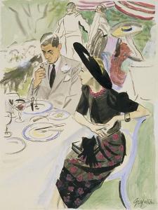Vogue - July 1937 by R.S. Grafstrom