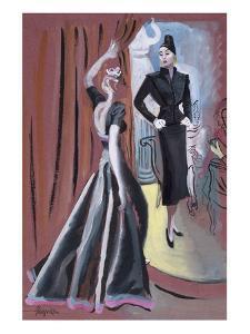 Vogue - September 1937 by R.S. Grafstrom
