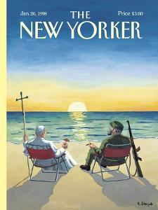 The New Yorker Cover - January 26, 1998 by R. Sikoryak