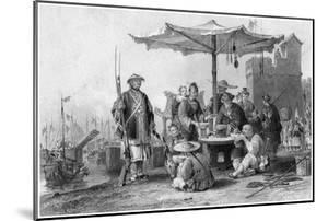 Rice Sellers at the Military Station of Tong-Chang-Foo, China, 19th Century by R Staines