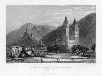 Church of St John and Castle Lahneck on the Rhine, 1838