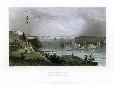 New York Bay as Seen from the Telegraph Station, USA, 1838
