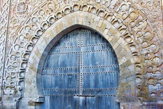 Rabat, Morocco, Kasbah Udaya Close Up of Design of Inside Door-Bill Bachmann-Photographic Print