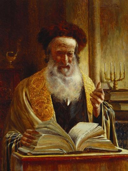 Rabbi Delivering a Sermon-Joseph Jost-Giclee Print