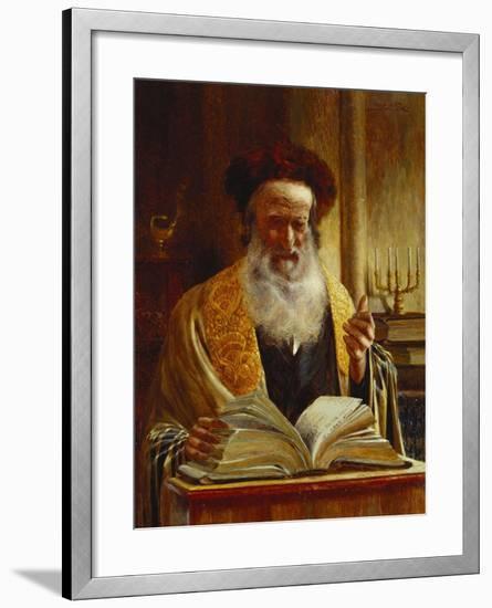 Rabbi Delivering a Sermon-Joseph Jost-Framed Giclee Print