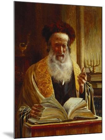 Rabbi Delivering a Sermon-Joseph Jost-Mounted Giclee Print
