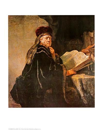 Rabbi-Rembrandt van Rijn-Art Print