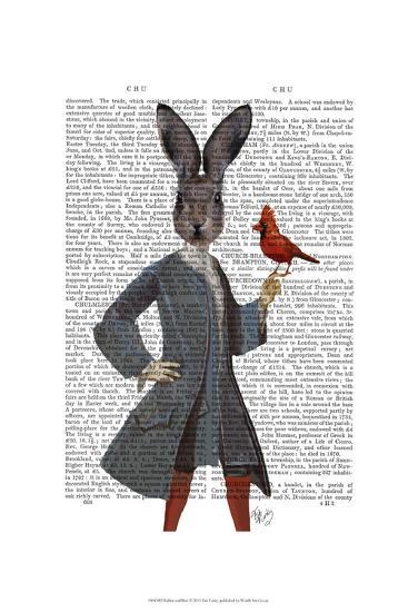 Rabbit and Bird-Fab Funky-Art Print