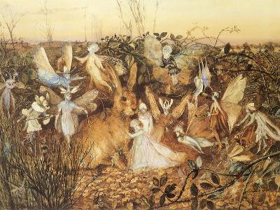Rabbit and Fairies, 1880-John Anster Fitzgerald-Giclee Print