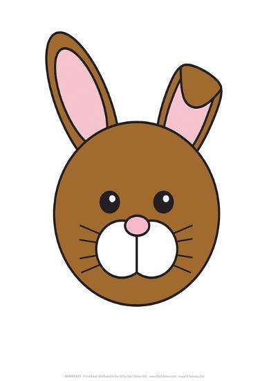 Rabbit - Animaru Cartoon Animal Print- Animaru-Giclee Print