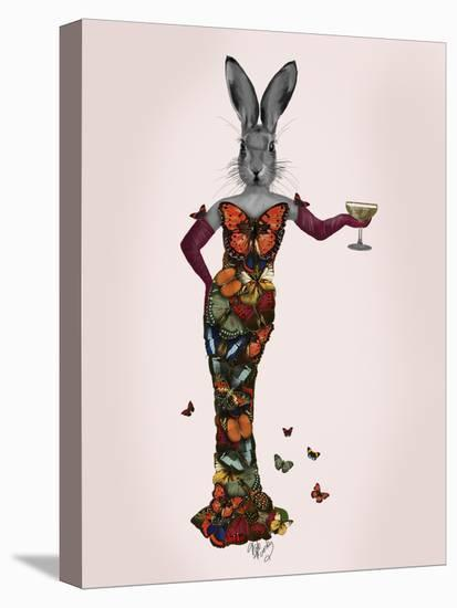 Rabbit Butterfly Dress-Fab Funky-Stretched Canvas Print