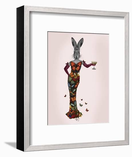Rabbit Butterfly Dress-Fab Funky-Framed Art Print