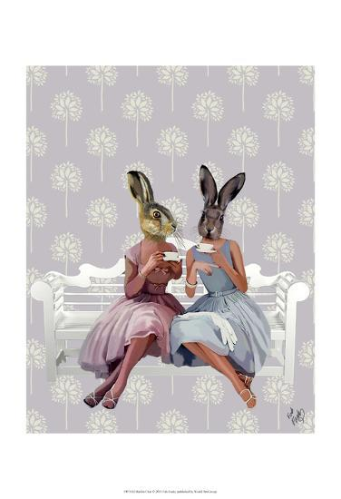 Rabbit Chat-Fab Funky-Art Print