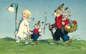 Rabbit Family with Child
