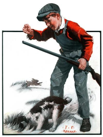 """Rabbit Hunting,""February 2, 1924-J^F^ Kernan-Giclee Print"