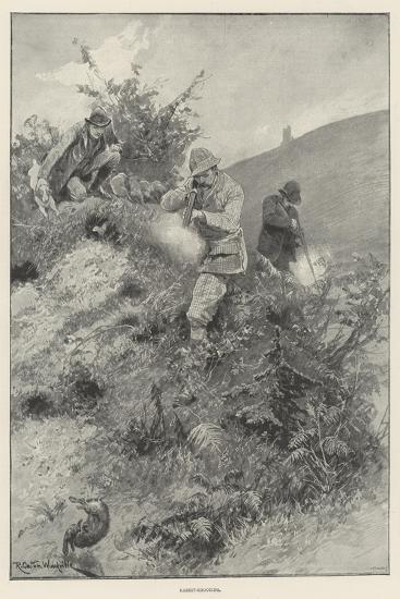 Rabbit-Shooting-Richard Caton Woodville II-Giclee Print