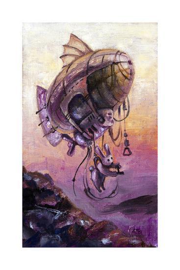 Rabbit The Dirigible Pilot-Leks-Art Print