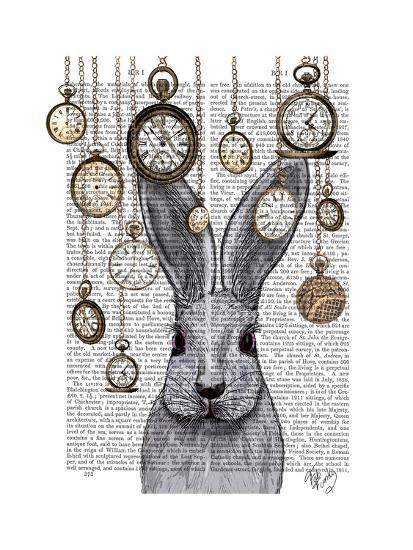 Rabbit Time-Fab Funky-Premium Giclee Print