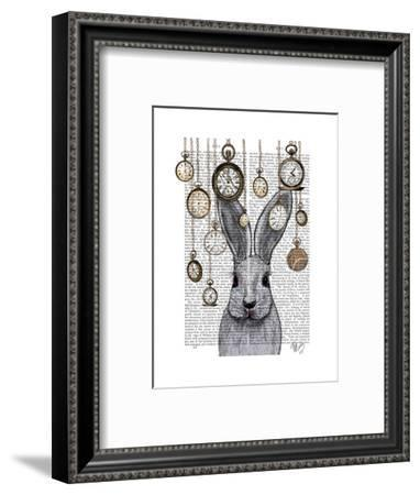 Rabbit Time-Fab Funky-Framed Art Print