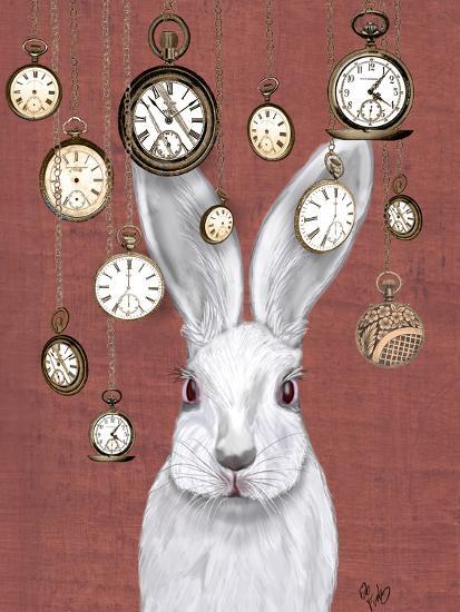 Rabbit Time-Fab Funky-Art Print