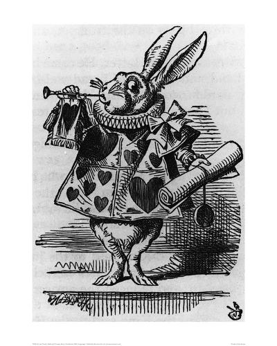 Rabbit with Trumpet-John Tenniel-Giclee Print
