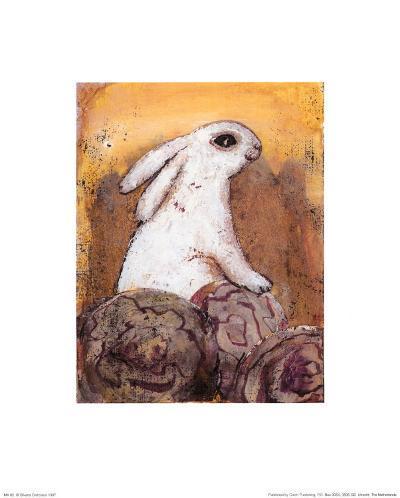 Rabbit-Silvana Crefcoeur-Art Print