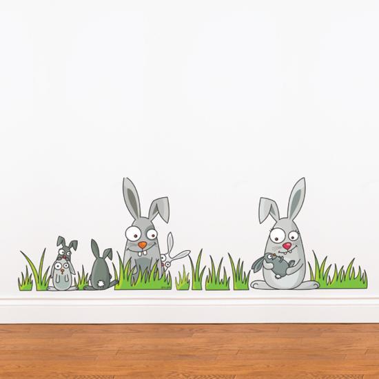 Rabbits Wall Decal--Wall Decal