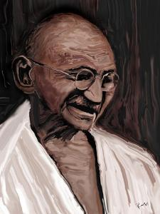 gandhi by Rabi Khan