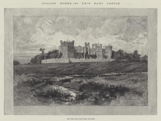 Raby Castle, View from the Fields Near the Road-Charles Auguste Loye-Giclee Print