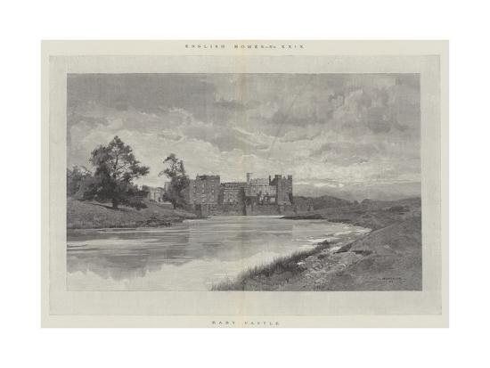 Raby Castle-Charles Auguste Loye-Giclee Print