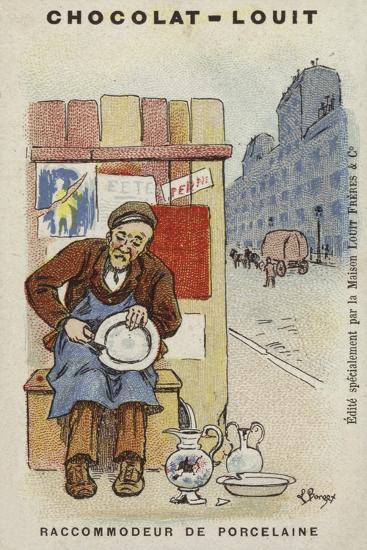 Raccommodeur De Porcelaine-Louis Borgex-Giclee Print