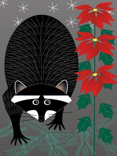 Raccoon Xmas-Marie Sansone-Giclee Print