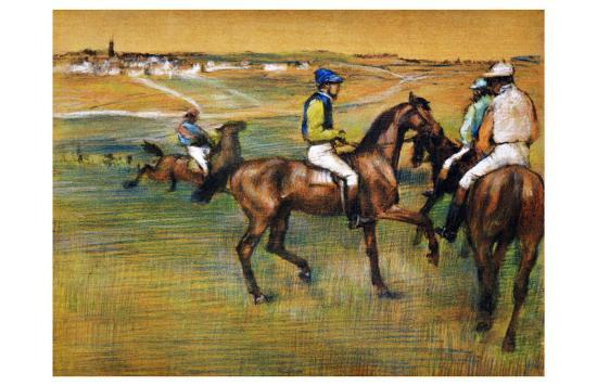 Race Horses-Edgar Degas-Giclee Print