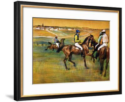 Race Horses-Edgar Degas-Framed Giclee Print