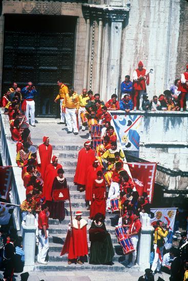 Race of the 3 Ceri, Gubbio, Umbria, Italy--Photographic Print