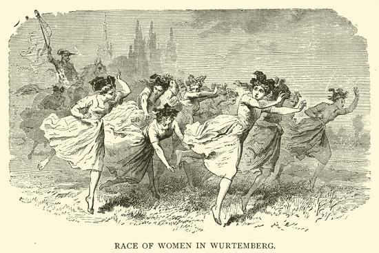 Race of Women in Wurtemberg--Giclee Print
