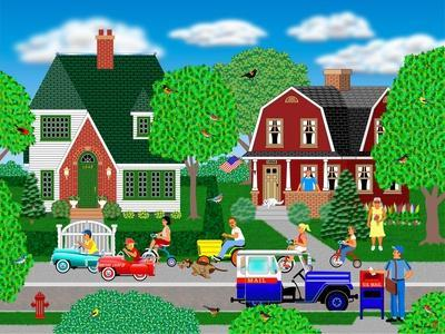 Race to the Corner-Mark Frost-Giclee Print