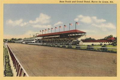 Race Track, Grandstands, Havre de Grace--Art Print
