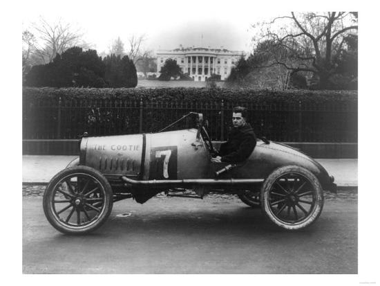 Racecar Parked in Front of the White House Photograph - Washington, DC-Lantern Press-Art Print