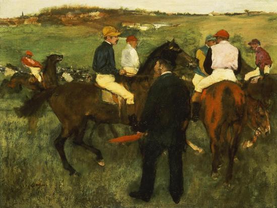 Racehorses (Leaving the Weighing), circa 1874-78-Edgar Degas-Giclee Print