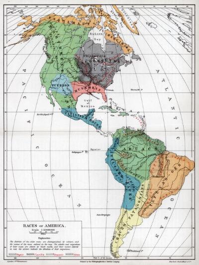 Races of America, 1901--Giclee Print